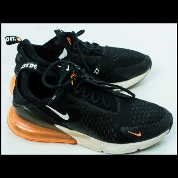 Nike Shoes Air Max 270 Mens Size 08 Black Total Orange Poshmark